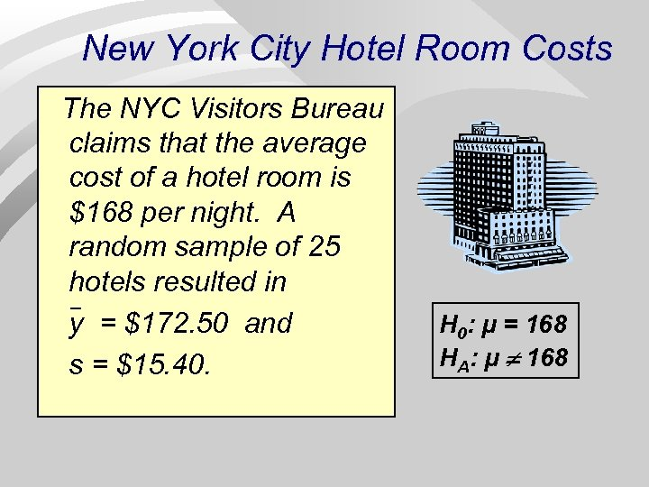 New York City Hotel Room Costs The NYC Visitors Bureau claims that the average