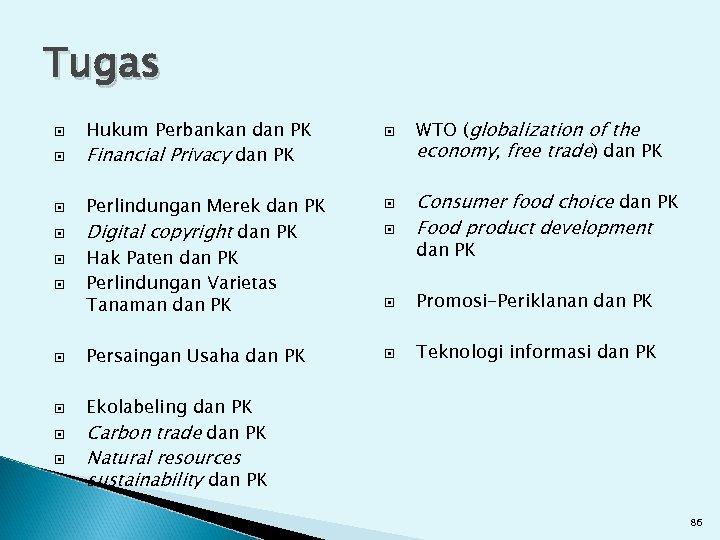 Tugas Hukum Perbankan dan PK Financial Privacy dan PK WTO (globalization of the economy,