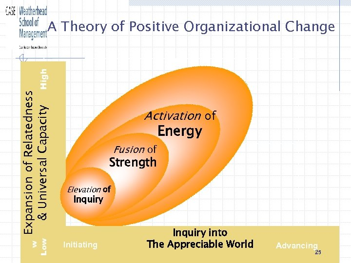 w Low Expansion of Relatedness & Universal Capacity High A Theory of Positive Organizational