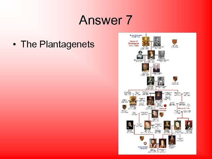 Answer 7 • The Plantagenets
