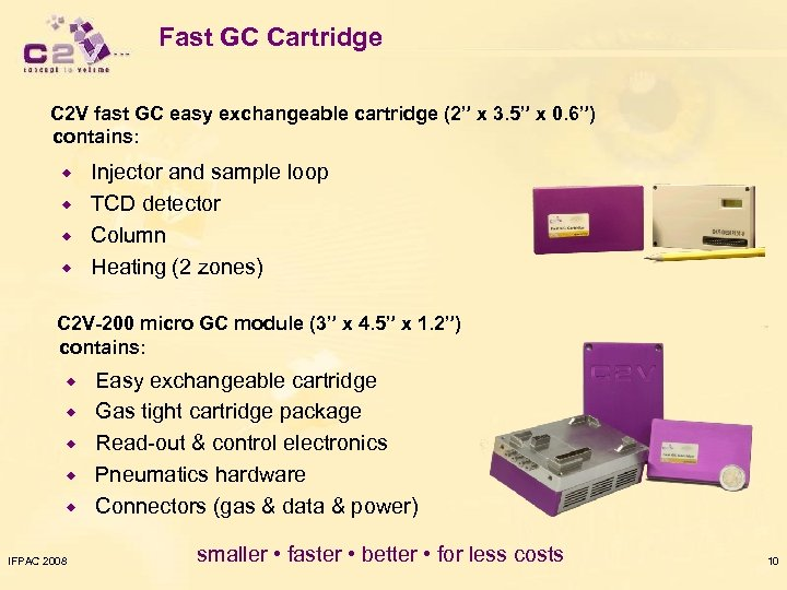 "Fast GC Cartridge C 2 V fast GC easy exchangeable cartridge (2"" x 3."