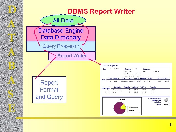D A T A B A S E DBMS Report Writer All Database Engine