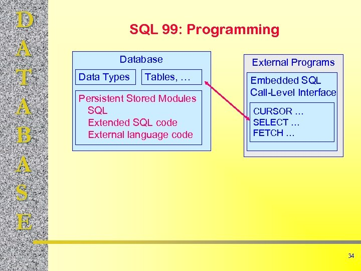 D A T A B A S E SQL 99: Programming Database Data Types