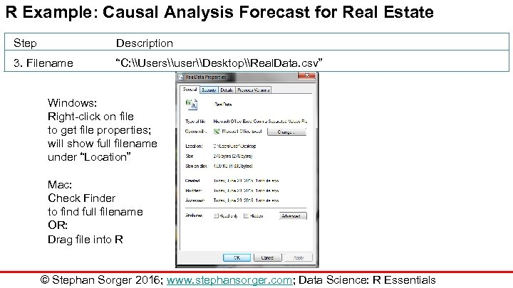 """R Example: Causal Analysis Forecast for Real Estate Step Description 3. Filename """"C: \Users\user\Desktop\Real."""