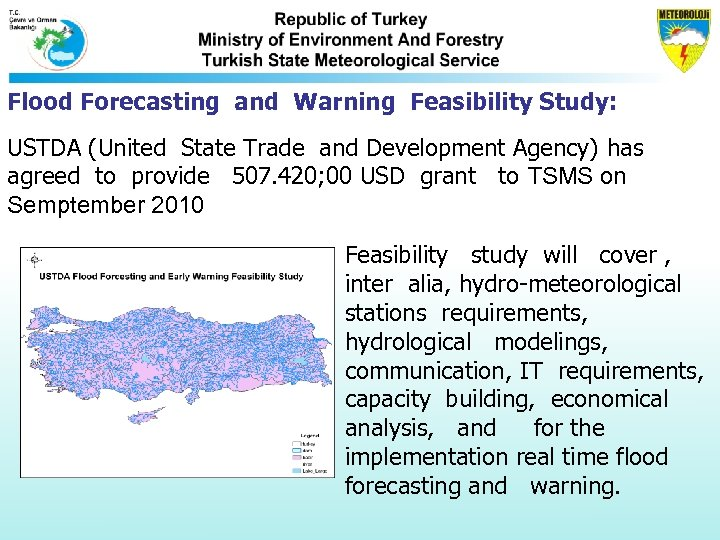 Flood Forecasting and Warning Feasibility Study: USTDA (United State Trade and Development Agency) has