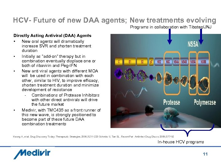 HCV- Future of new DAA agents; New treatments evolving Programs in collaboration with Tibotec/JNJ