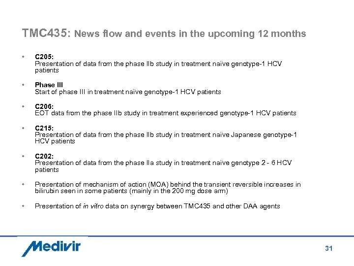 TMC 435: News flow and events in the upcoming 12 months • C 205: