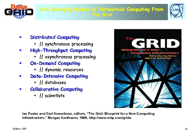 Five Emerging Models of Networked Computing From The Grid CERN Distributed Computing § ||