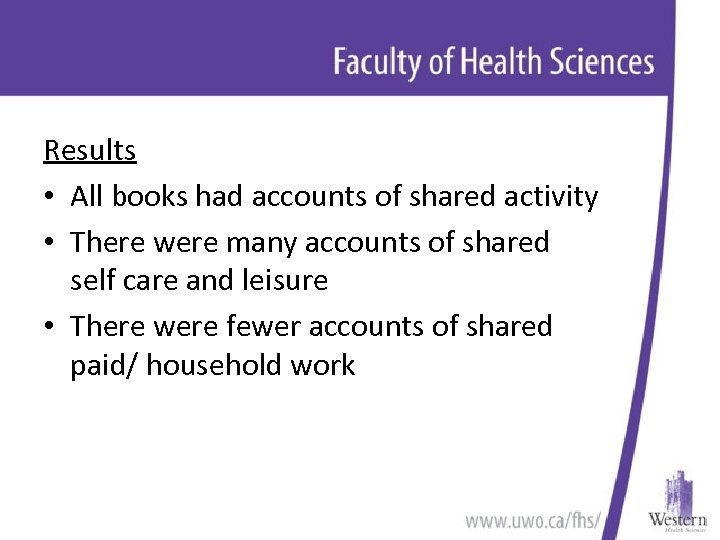 Results • All books had accounts of shared activity • There were many accounts