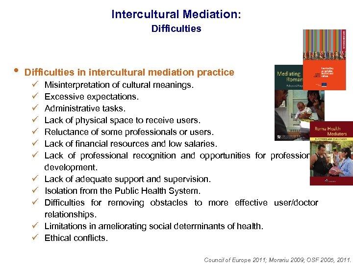 Intercultural Mediation: Difficulties • Difficulties in intercultural mediation practice ü ü ü Misinterpretation of