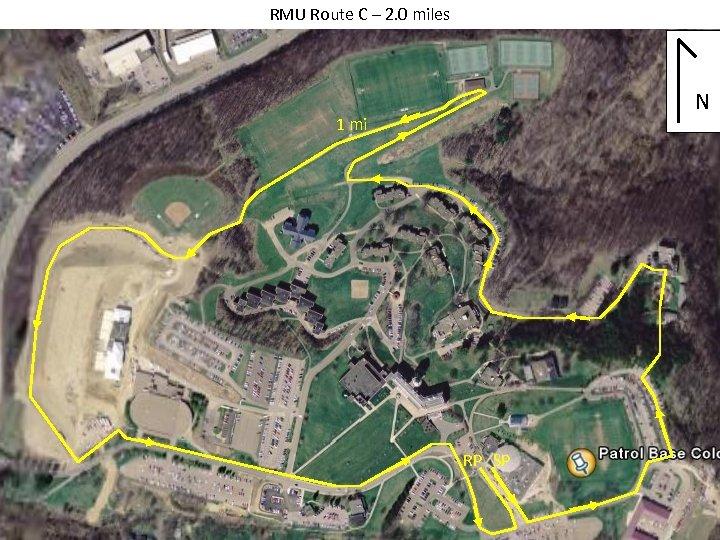 RMU Route C – 2. 0 miles N 1 mi RP SP