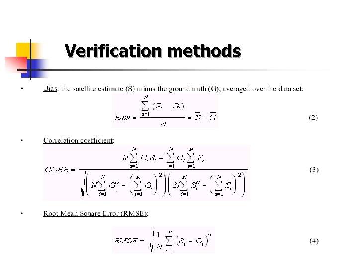 Verification methods