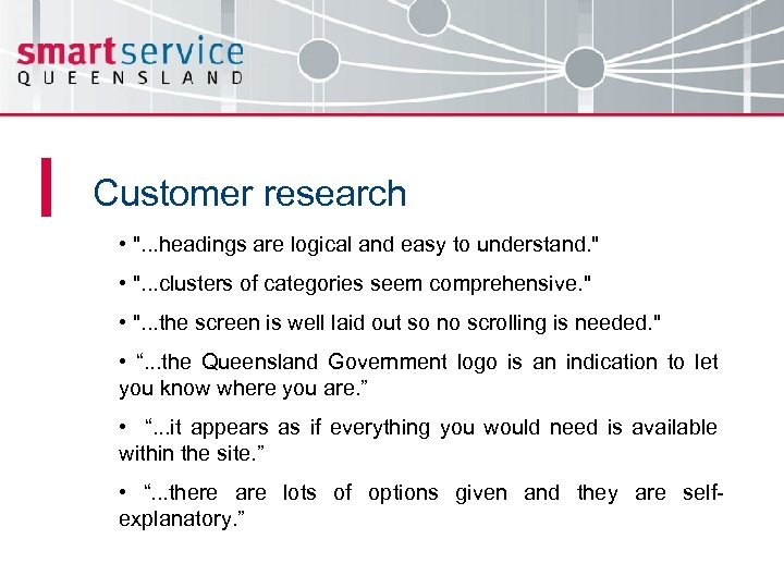 Customer research •