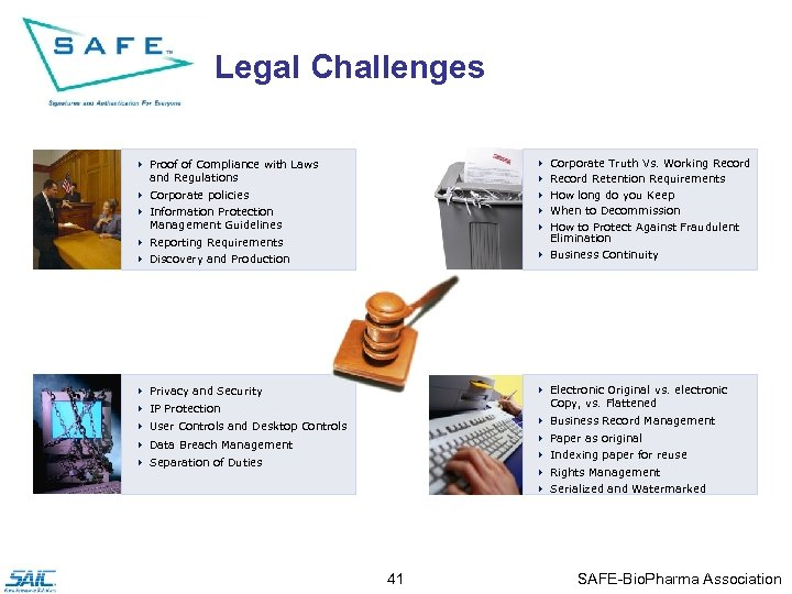 Legal Challenges 4 Proof of Compliance with Laws and Regulations 4 Corporate policies 4