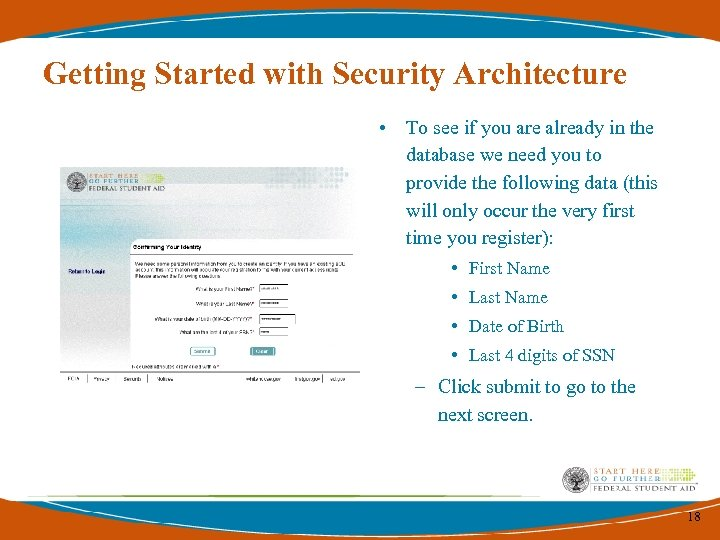 Getting Started with Security Architecture • To see if you are already in the