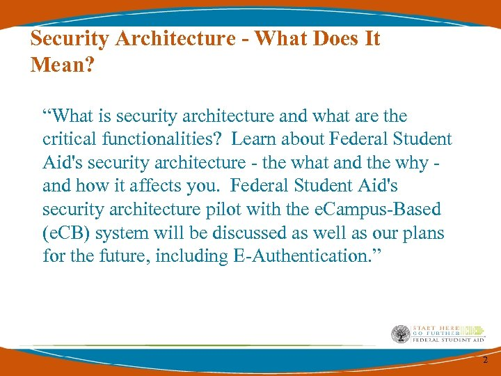 "Security Architecture - What Does It Mean? ""What is security architecture and what are"