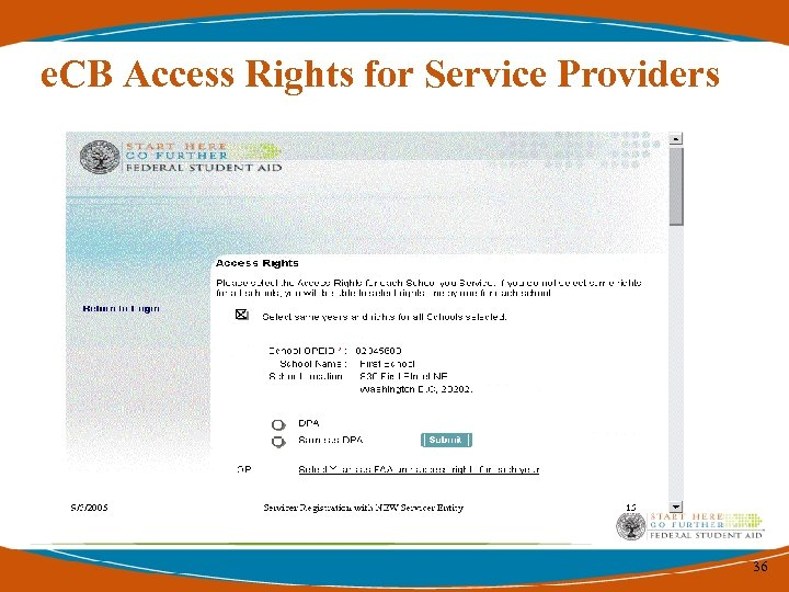 e. CB Access Rights for Service Providers 36