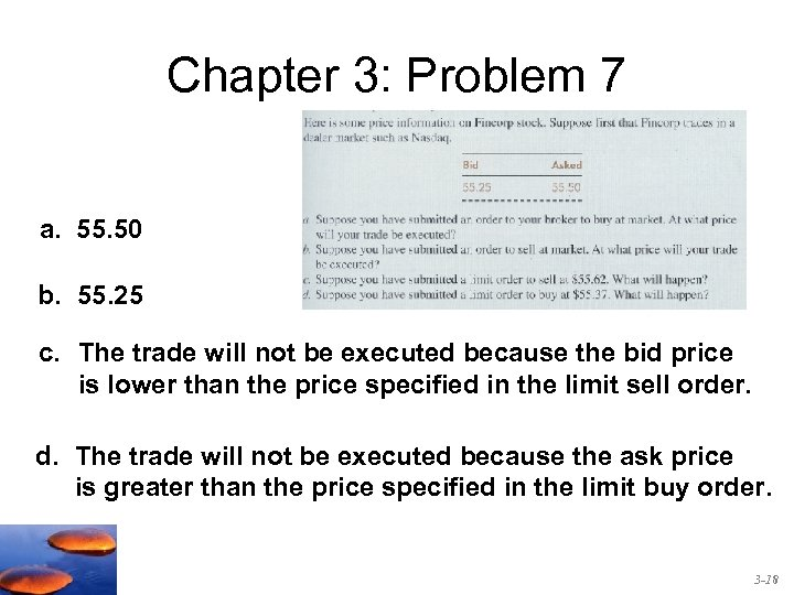 Chapter 3: Problem 7 a. 55. 50 b. 55. 25 c. The trade will
