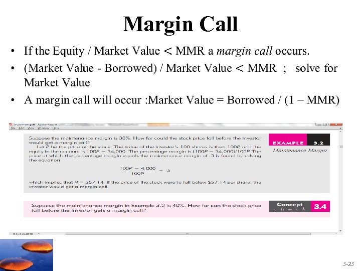 Margin Call • 3 -23