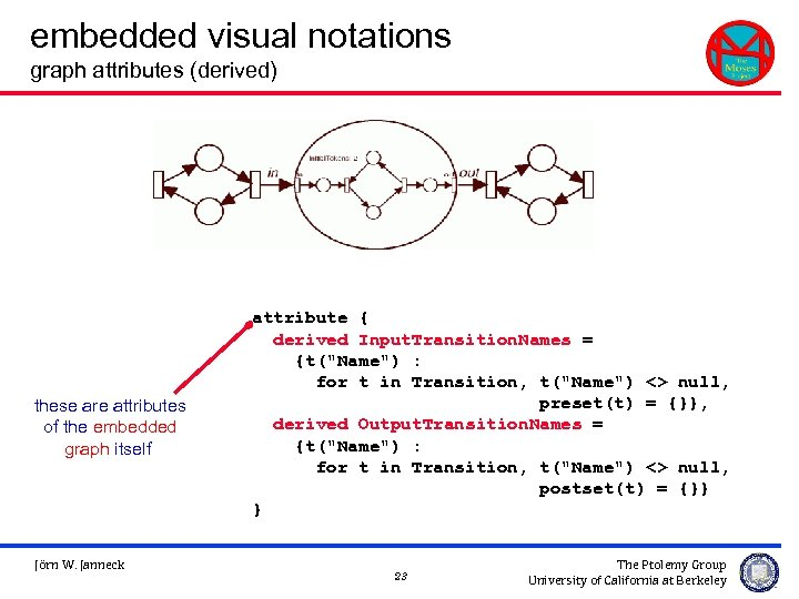 embedded visual notations graph attributes (derived) these are attributes of the embedded graph itself