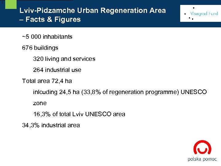 [ Lviv-Pidzamche Urban Regeneration Area – Facts & Figures ~5 000 inhabitants 676 buildings