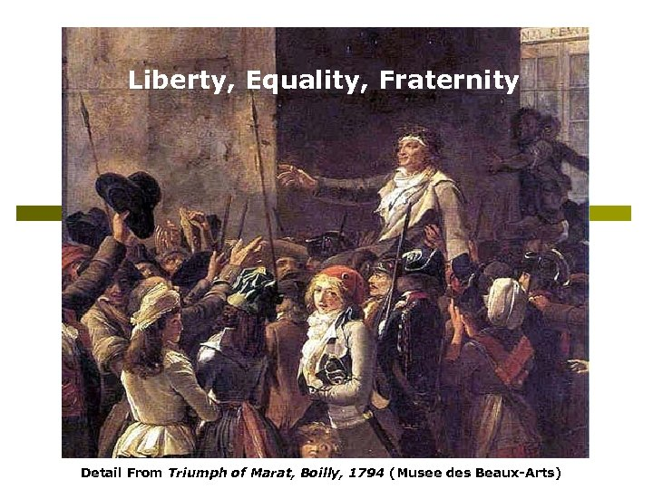 Liberty, Equality, Fraternity Detail From Triumph of Marat, Boilly, 1794 (Musee des Beaux-Arts)
