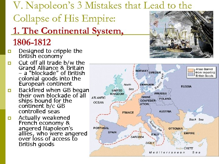V. Napoleon's 3 Mistakes that Lead to the Collapse of His Empire: 1. The