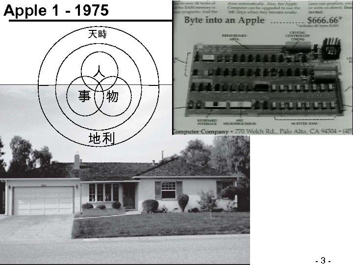 Apple 1 - 1975 天時 人 事 物 地利 © Minder Chen, 2011 -2012