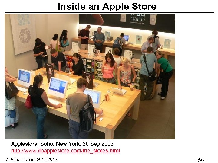 Inside an Apple Store Applestore, Soho, New York, 20 Sep 2005 http: //www. ifoapplestore.