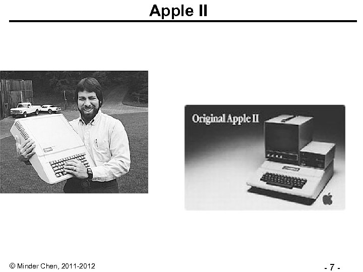 Apple II © Minder Chen, 2011 -2012 - 7 -