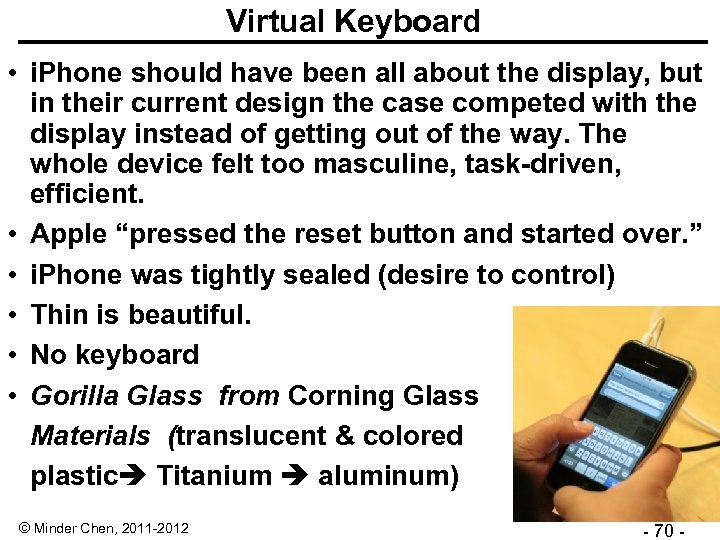 Virtual Keyboard • i. Phone should have been all about the display, but in
