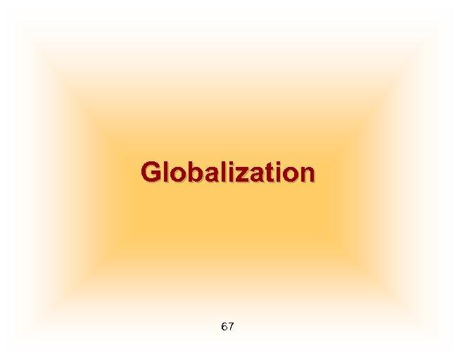 Globalization 67