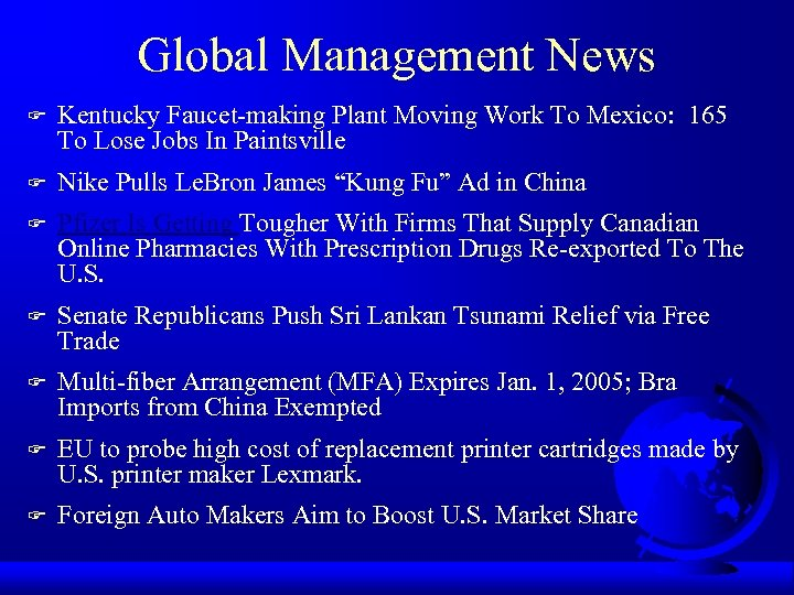 Global Management News F Kentucky Faucet-making Plant Moving Work To Mexico: 165 To Lose