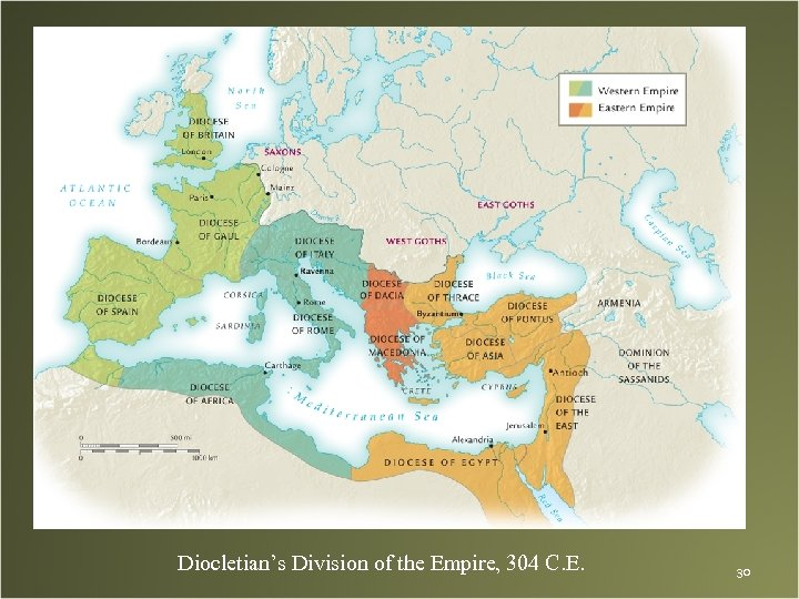Diocletian's Division of the Empire, 304 C. E. 30