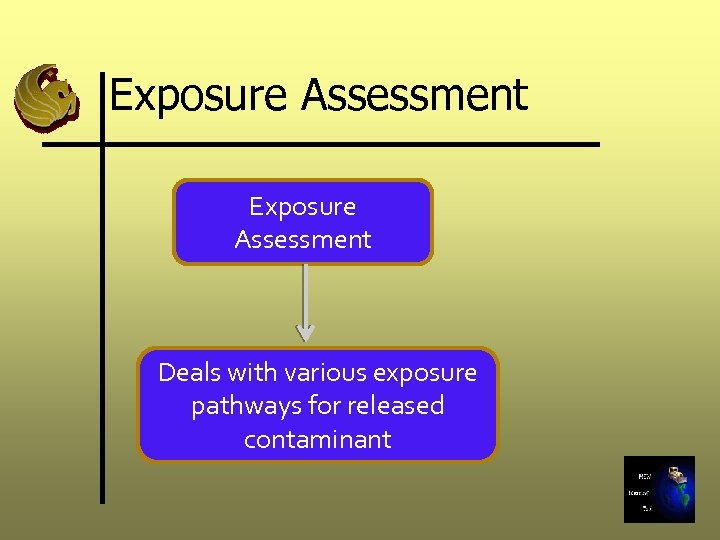 Exposure Assessment Deals with various exposure pathways for released contaminant