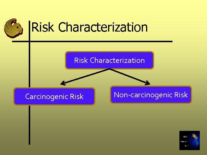Risk Characterization Carcinogenic Risk Non-carcinogenic Risk