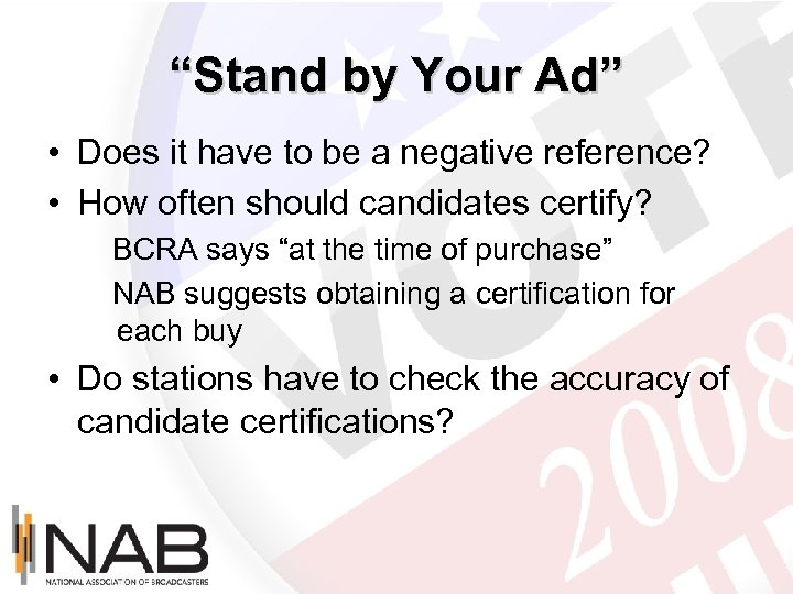"""Stand by Your Ad"" • Does it have to be a negative reference? •"