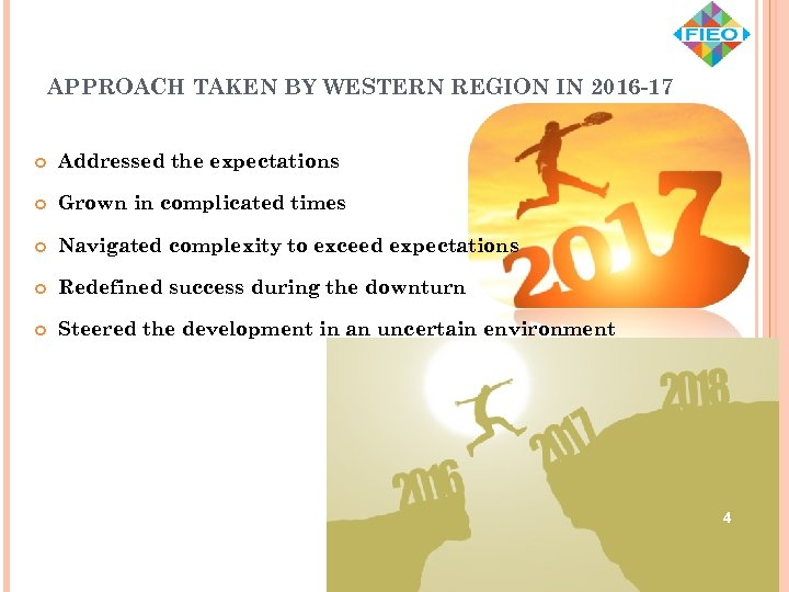 APPROACH TAKEN BY WESTERN REGION IN 2016 -17 Addressed the expectations Grown in complicated