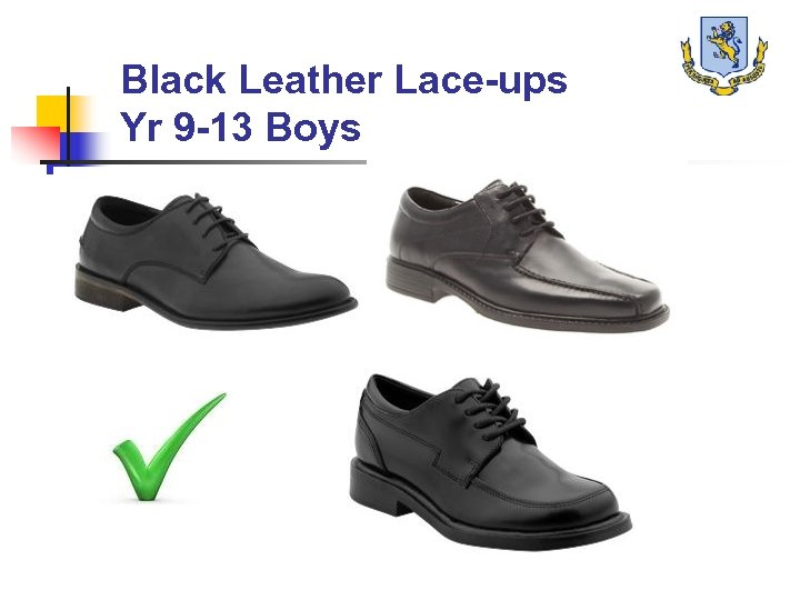 Black Leather Lace-ups Yr 9 -13 Boys