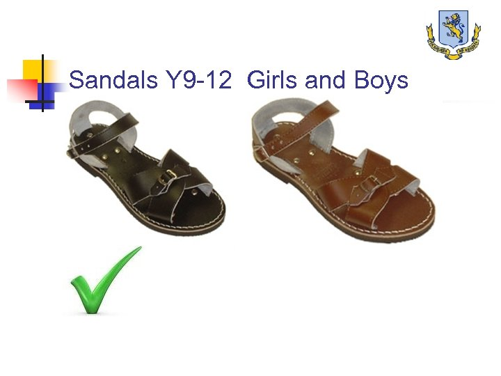 Sandals Y 9 -12 Girls and Boys