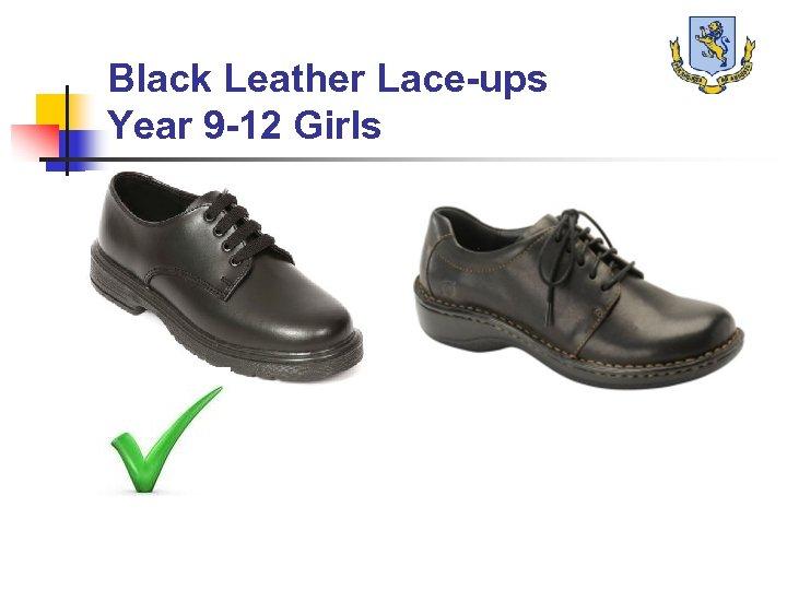 Black Leather Lace-ups Year 9 -12 Girls
