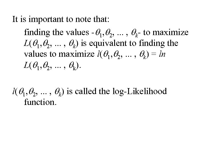 It is important to note that: finding the values -q 1, q 2, .