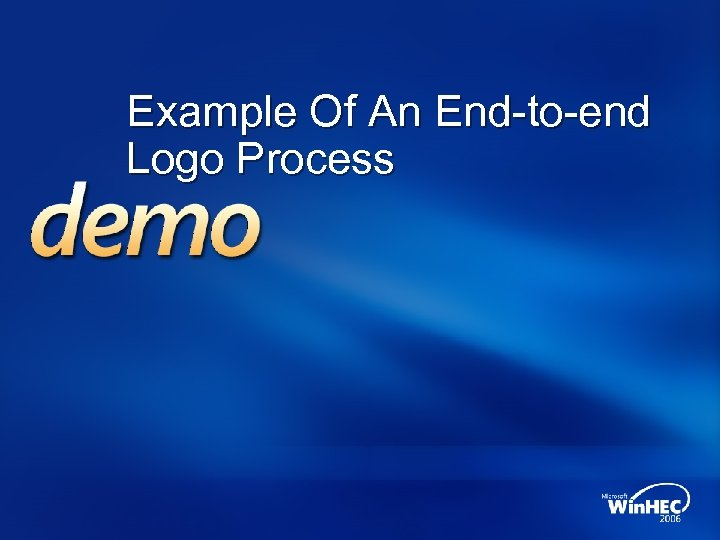 Example Of An End-to-end Logo Process