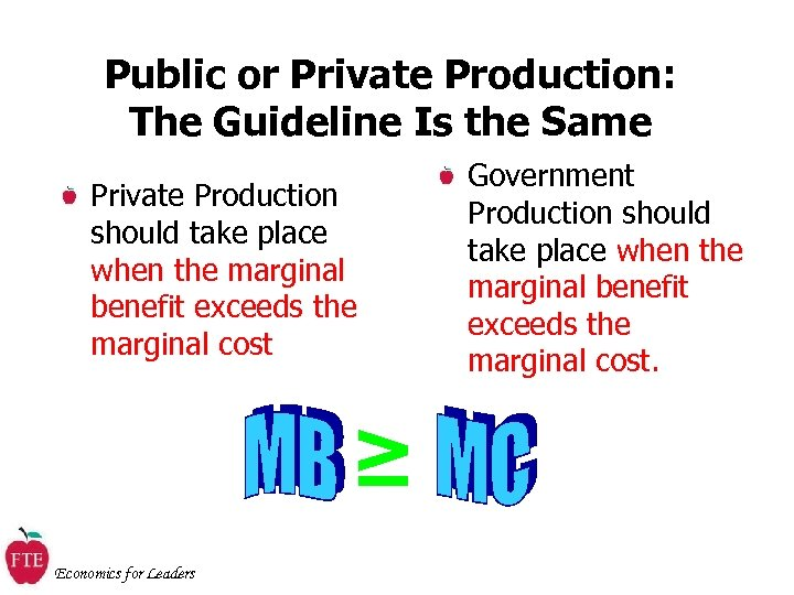 Public or Private Production: The Guideline Is the Same Private Production should take place