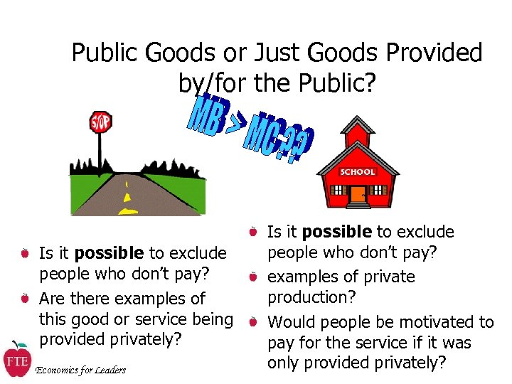 Public Goods or Just Goods Provided by/for the Public? Is it possible to exclude