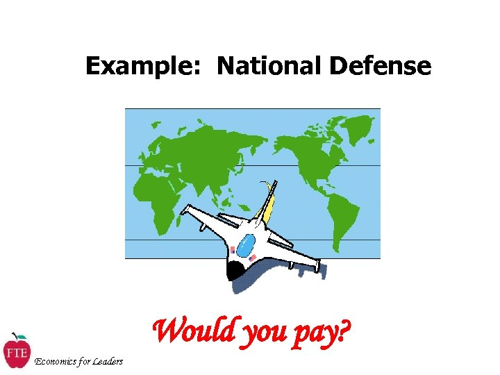 Example: National Defense Would you pay? Economics for Leaders