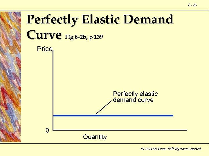6 - 26 Perfectly Elastic Demand Curve Fig 6 -2 b, p 139 Price