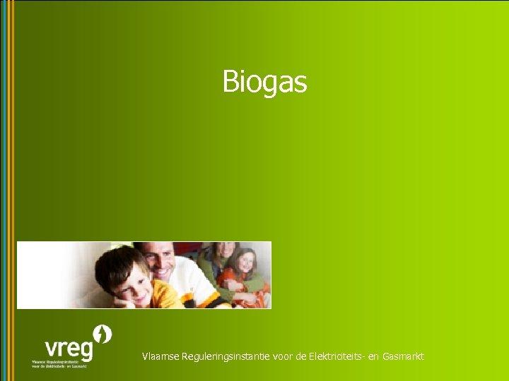 Biogas Vlaamse Reguleringsinstantie voor de Elektriciteits- en Gasmarkt