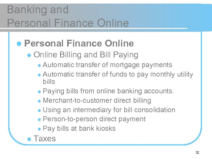 Banking and Personal Finance Online l Personal l Finance Online Billing and Bill Paying