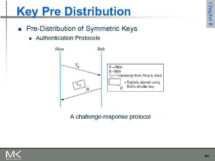 n Pre-Distribution of Symmetric Keys n Chapter 8 Key Pre Distribution Authentication Protocols A